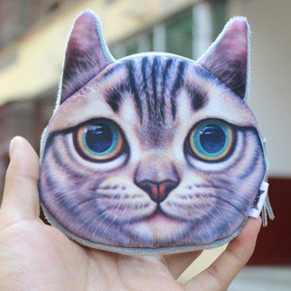 Zipper 3D Animal Kitten Coin Purse