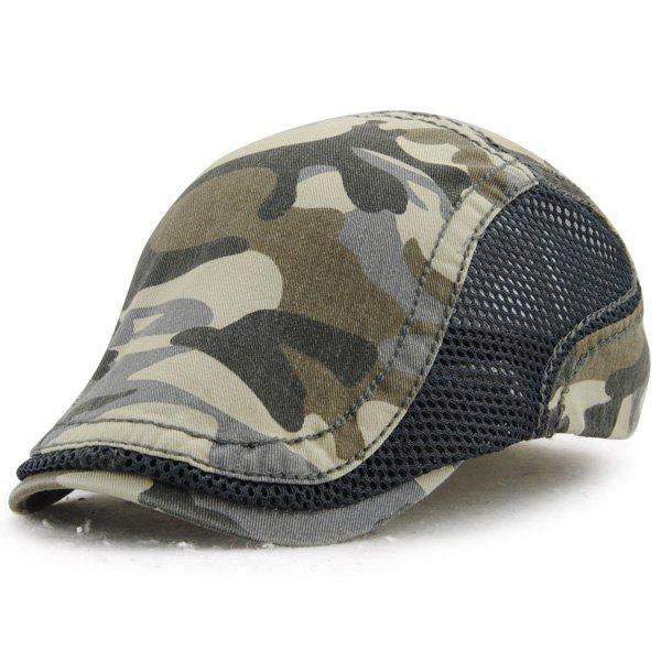 Fashion Camouflage Pattern Outdoor Summer Ivy Hat - DEEP GRAY