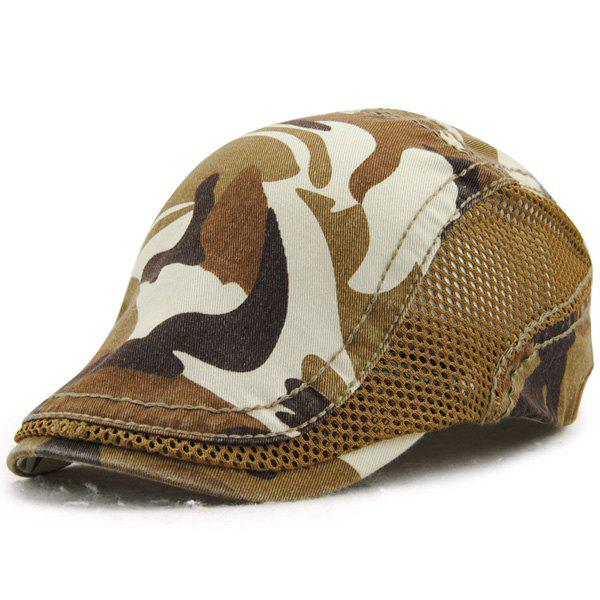 Fashion Camouflage Pattern Outdoor Summer Ivy Hat - LIGHT COFFEE