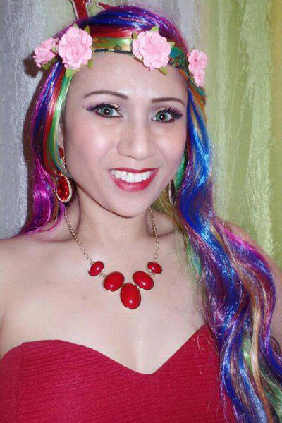 Shaggy Wavy Synthetic Harajuku Long Side Bang Fashion Colorful Ombre Cosplay Wig For Women