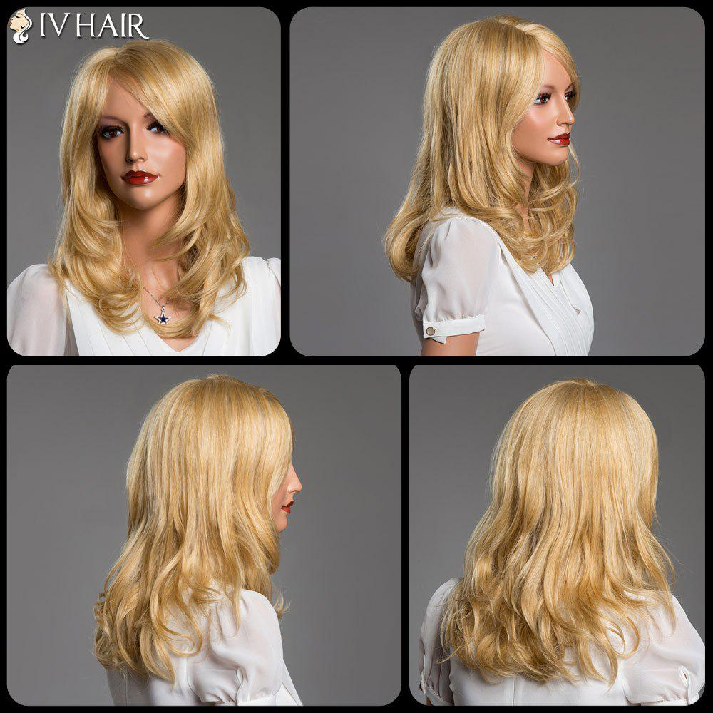 Long Layered Tail Adduction Side Bang Real Natural Hair Siv Wig - GOLDEN