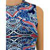 Abstract Printing Sleeveless Skinny Dress - COLORMIX XL