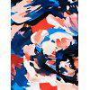 Abstract Colorful Print Skinny Dress - COLORMIX XL