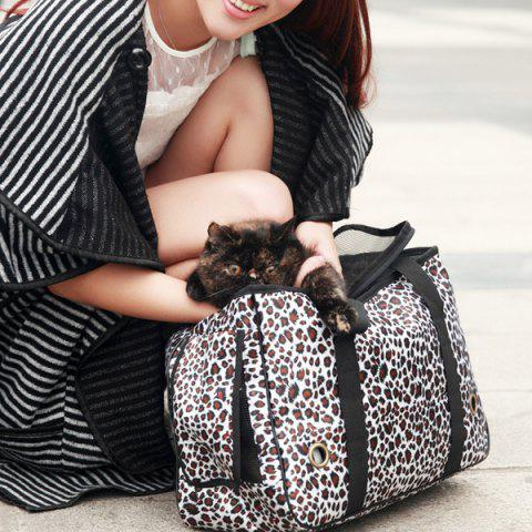 Portable Bonne Qualité Leopard Design Sac Pet Carrier - Léopard S
