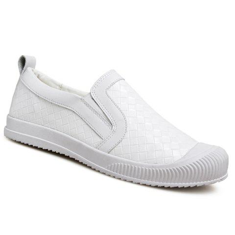 Motif Lattice Trendy et Slip On s 'Design Hommes  Souliers - Blanc 42