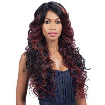 Long Multi Wavy Side Parting Synthetic Wig