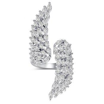 Faux Crystal Angel Wings Cuff Ring