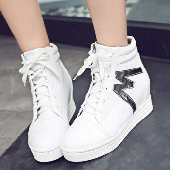 High Top Tie Up Print Ankle Boots - 38 38