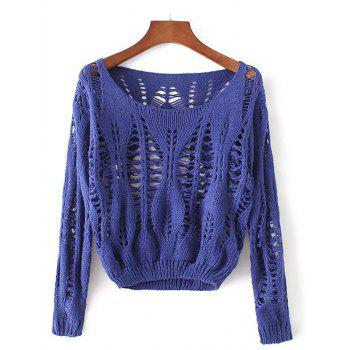 Openwork Long Sleeves Pullover Knitwear
