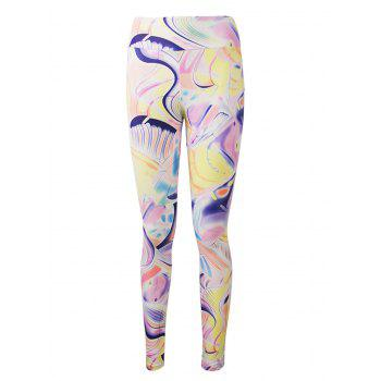 Active Graffiti Colorful Print Leggings