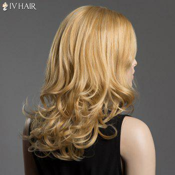 Towheaded Long Capless Human Hair Side Parting Wave Siv Hair Wig -  GOLDEN