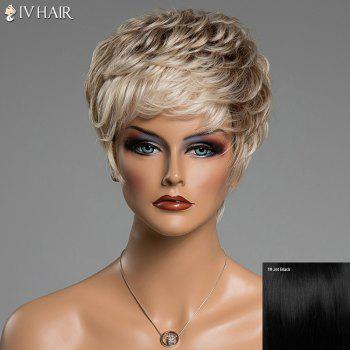 Fluffy Curly Short Human Hair Prevailing Inclined Bang Siv Hair Capless Wig