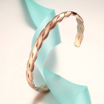 Hammered Twist Cuff Bracelet