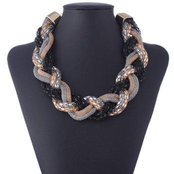 Layered Snake Chain Big Twist Statement Necklace