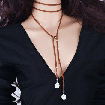 Coin Multilayered Bolo Necklace