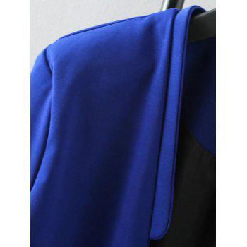Plus Size Solid Color Loose-Fitting Blazer - 2XL 2XL