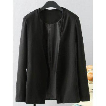 Plus Size Solid Color Loose-Fitting Blazer