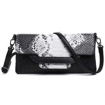 Color Splicing Plaid Pattern Embossing Clutch Bag
