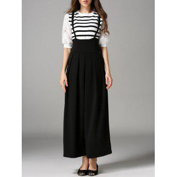High Waist Loose Fitted Overalls