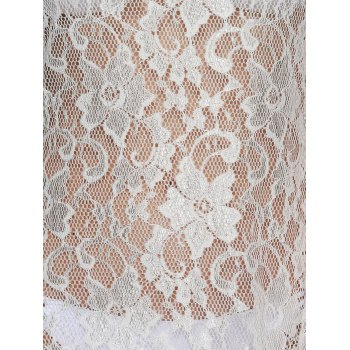 Crochet Lace Hollow Out Cover-Ups Bathing Suits - WHITE XL