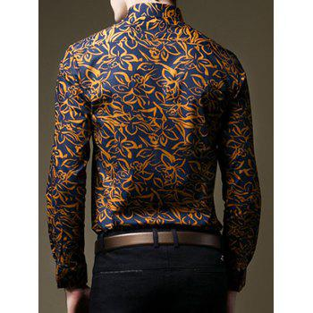 Long Sleeves Floral Printed Shirt - COLORMIX S