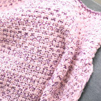 Comfortable Ombre Color Knitting Mermaid Shape Blanket - PINK/PURPLE