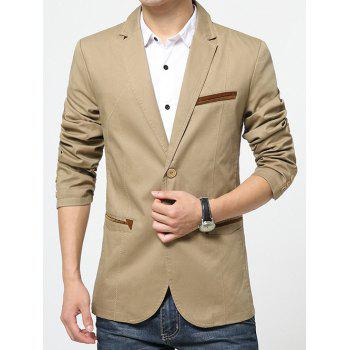 Double Welt Pockets Long Sleeve Lapel Single Breasted Blazer