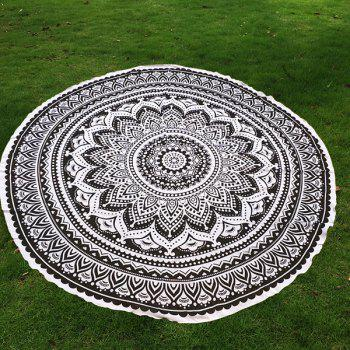 Bohemia Retro Style Bikini Boho Swimwear Mandala Lotus Flower Pattern Chiffon Round Beach Throw