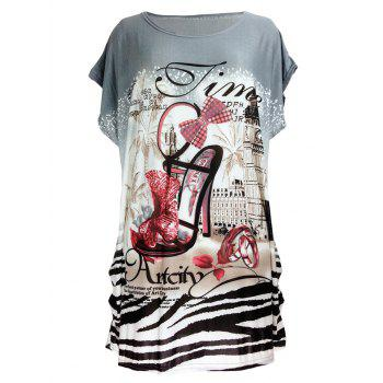 Pumps Print Loose-Fitting T-Shirt