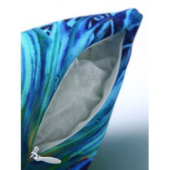Comfortable Colorful Feather Pattern Square Shape Pillowcase - COLORMIX