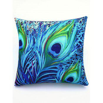 Comfortable Colorful Feather Pattern Square Shape Pillowcase