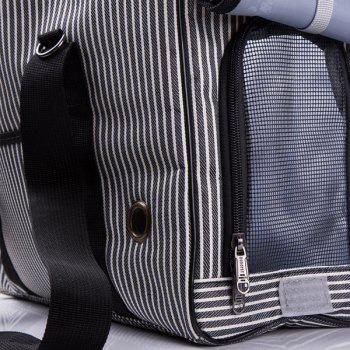 Portable Good Quality Stripe Design Pet Carrier Bag - L L