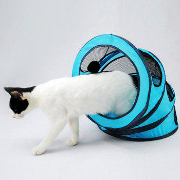Pet Toy  Folding Breathable Spiral Cat Tunnel or Bed - BLUE