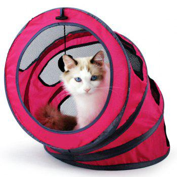 Pet Toy  Folding Breathable Spiral Cat Tunnel or Bed - PINK PINK