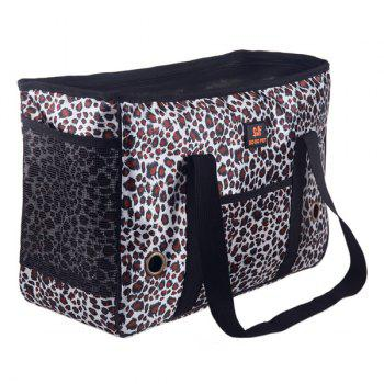 Portable Good Quality Leopard Design Pet Carrier Bag - S S
