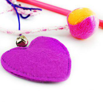 Pet Plaything Heart and Ball Shape Catnip Teaser Toy -  COLORFUL