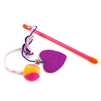 Pet Plaything Heart and Ball Shape Catnip Teaser Toy - COLORFUL COLORFUL