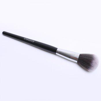 Cosmetic Round Nylon Blush Brush -  BLACK