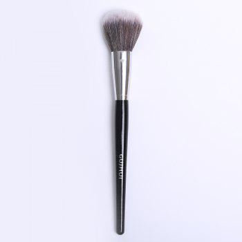 Cosmetic Round Nylon Blush Brush - BLACK BLACK