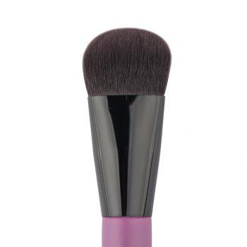 Cosmetic Nylon Round Foundation Brush - Pourpre