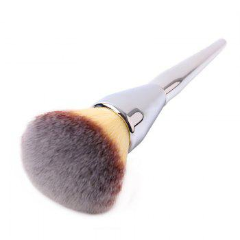 Plating Handle Soft Nylon Powder Brush -  SILVER