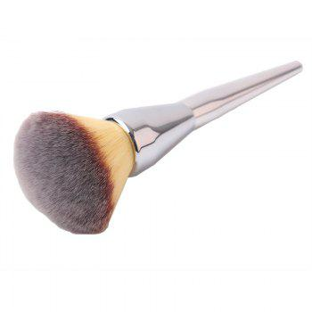 Plating Handle Soft Nylon Powder Brush - SILVER SILVER