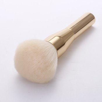 Plated Handle Soft Nylon Powder Brush -  GOLDEN