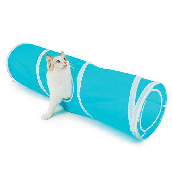 Pet Toy  Folding Breathable Spiral Cat Tunnel - BLUE