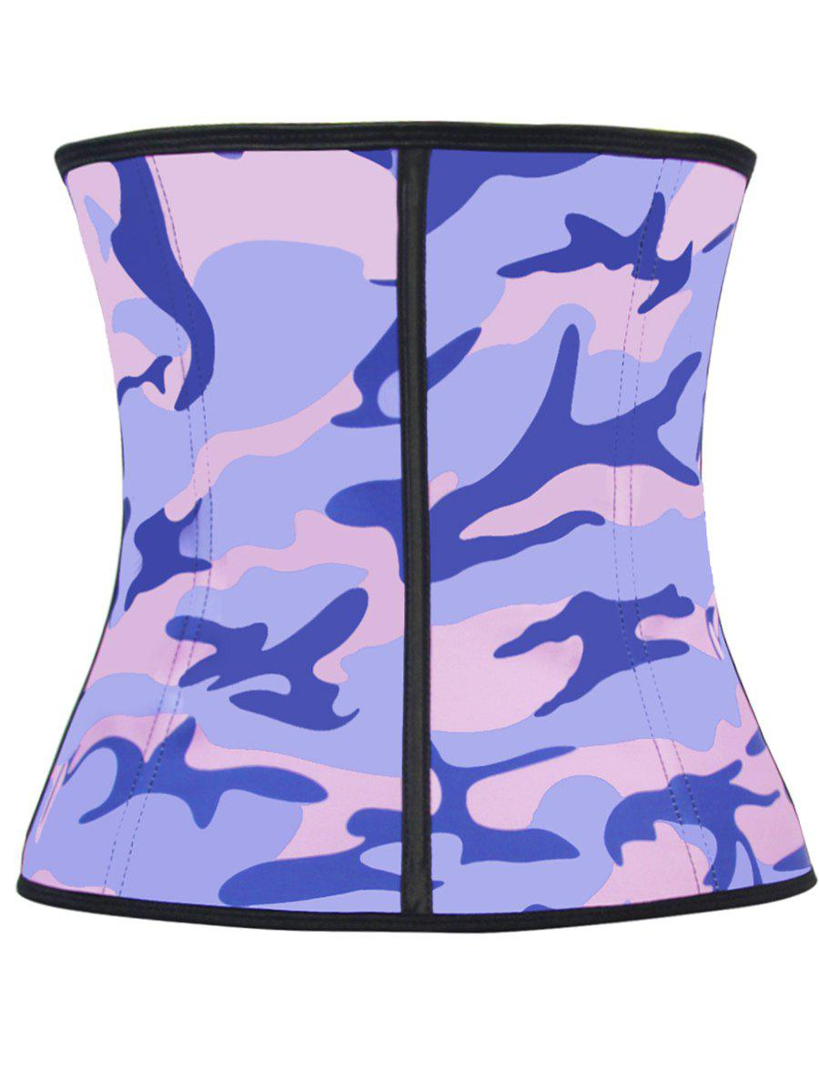Personalized Camo Colorful Print Underbust Corset Top