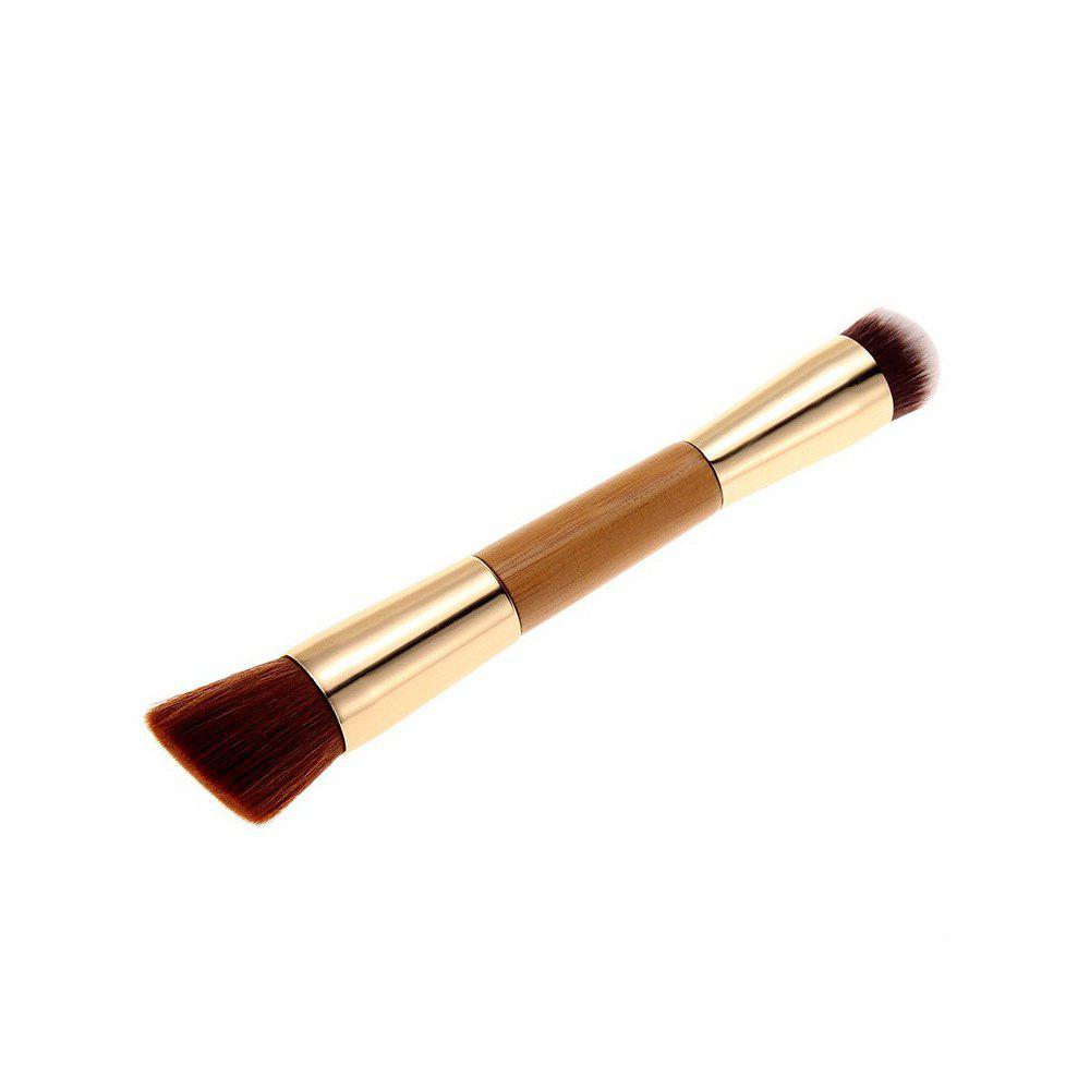 Nylon Double-Tête Foundation Brush - Or