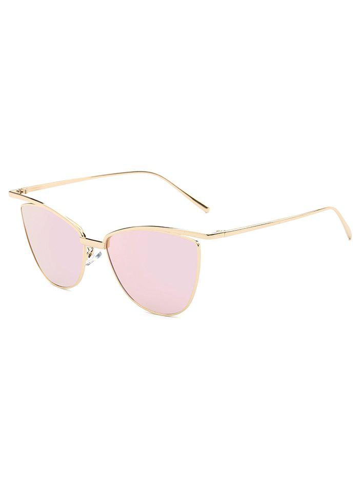 Joy-Ride Brief Mirrored Butterfly Sunglasses - PINK