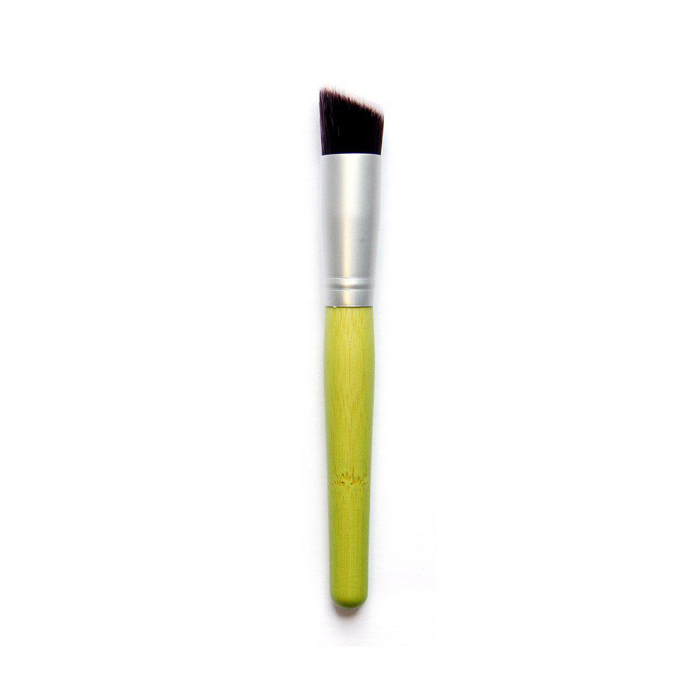 Bamboo Handle Angled Nylon Foundation Brush top quality foundation brush angled makeup brush
