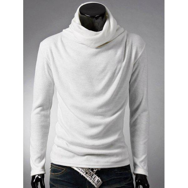 Brief Style Long Sleeve High Neck T-Shirt