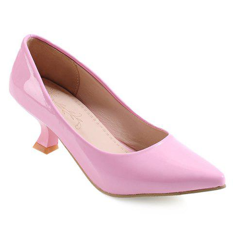 Strange Heel Point Toe Pumps - PINK 42